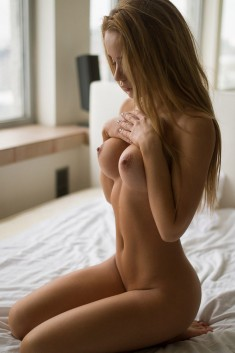 Portrait d'une jeune femme nue